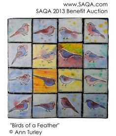 The SAQA auction begins tomorrow, Sept 9. This art quilt by Ann Turley is available in the first group.