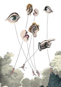 Award winning illustration- 'Psychology of Auction' for Art Bank 2014 Collages, Collage Artists, Frida Art, Learn Art, Eye Art, Photomontage, Artsy Fartsy, Illustrators, Art Projects