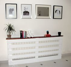 diy radiator cover - this would work as a sofa table in my ...
