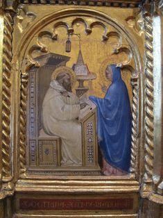 Giovanni da Milano - Apparizione della Vergine a San Bernardo, predella  Polittico di Prato - 1353-1363 - Prato, Pinacoteca