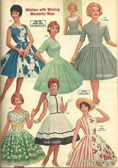 1960s Fashion, Fashion Sewing, Timeless Fashion, Vintage Fashion, Club Fashion, Vintage 1950s Dresses, Vintage Outfits, Vintage Clothing, Fashion Catalogue