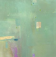 """Penny Putnam """"Lime Water"""" Mixed Media on Paper  Mounted on Board"""