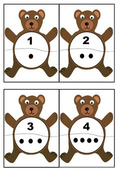 cheznounoucricri - Page 2 Bears Preschool, Preschool Math, Kindergarten Math, Math Games, Preschool Activities, Play Based Learning, Kids Learning, Shape Games