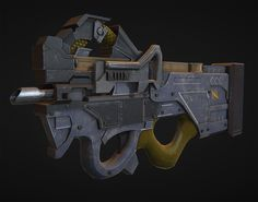 Future FN P-90, Nelson Reid on ArtStation at https://www.artstation.com/artwork/lrllJ