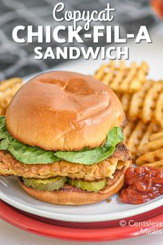 Copycat Chick-fil-A Sandwich recipe - CentsLess Meals Chik Fil A Chicken, Chick Fil A Sandwich, Best Fast Food, Chicken Sandwich Recipes, Restaurant Recipes, Copycat Recipes, Main Dishes, Sandwiches, Meals