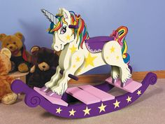 Unicorn Rocking Horse!  Wow that's sooo cute!! Lily would love!