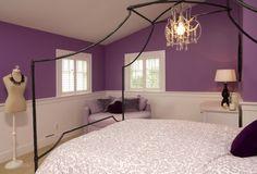 Purple Color Schemes Teenage Bedrooms Ideas Pictures