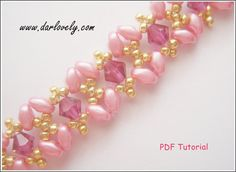 10% OFF for purchase of $25 and above. Simply use the coupon code <10off25> during checkout to enjoy. This superduo bracelet tutorial includes very detail, easy step by step instructions with colour photos/pictures and materials list. The bracelet is made using Swarovski bicone, superduo beads and seed beads, which are easily available. Time required approximately 2 hr Number of pages 13 Number of Steps 32 Skill Level: Intermediate/ Advanced This tutorial is for your perso...