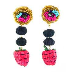 Iraca Fruit Earrings Beautiful Earrings, Fair Trade, Hand Weaving, Studs, Palm, Artisan, Drop Earrings, Luxury, Handmade