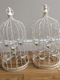 Tall jewelled wedding centrepiece birdcages  £6 hire fee each  We have 10 in stock