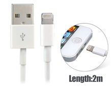 2.0 m Charging Cable for iPhone 5, iPad Mini, iPad 4, iPod Touch 5, iPod Nano 7 Best Seller (White)