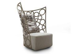 Upholstered armchair with headrest ICONA by ERBA ITALIA | design Giorgio Soressi