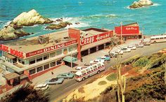 Cliff House    Vintage postcard view of the Cliff House at Seal Rocks, near San Fransisco, California - 1960's.
