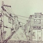 My Gertrude Streetscape etching