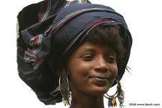 Africa |  Portrait of a Wodaabe woman. Niger | © Linda Shen