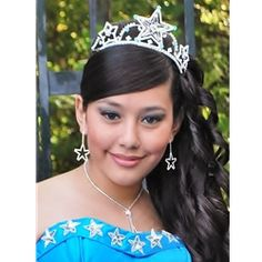 quinceanera hairstyles with tiara : Quinceanera Tiaras on Pinterest Quinceanera hairstyles, Quinceanera ...