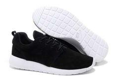 UK Trainers Roshe One|Nike Roshe Run Suede Mens Black White