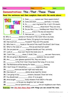 English ESL worksheets for home learning and physical classrooms
