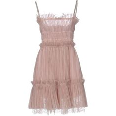 Just Cavalli Short Dress ($335) ❤ liked on Polyvore featuring dresses, skin colour, just cavalli dresses, pocket dress, just cavalli, deep v-neck dresses and sleeveless short dress
