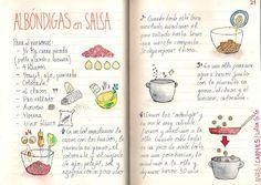 Gastro Andalusi ♥ Recetas paso a paso: Tomo 1 Comida Diy, Food Cartoon, Albondigas, English Food, Food Journal, Love Eat, Arabic Food, Spanish Food, Some Recipe