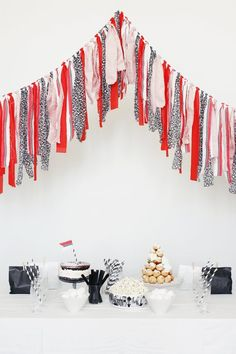 fabric bunting, via lily