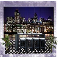Night Life by vonda-brooks on Polyvore featuring interior, interiors, interior design, home, home decor and interior decorating