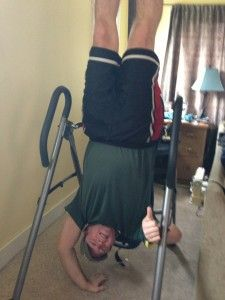 Davey's inversion table was an answer to his prayers
