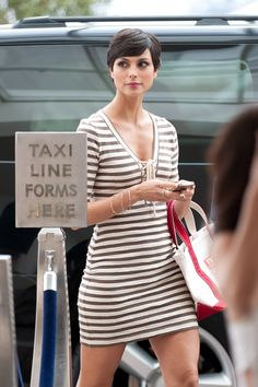 My Favorite Celebs & Models — Morena Baccarin Short Haircut Styles, Cute Short Haircuts, Short Styles, Pixie Crop, Short Pixie, Popular Short Hairstyles, Actrices Hollywood, Short Hair Cuts For Women, Cute Shorts