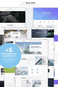 WordPress Template , Buildex - Multipage Architecture Agency Responsive