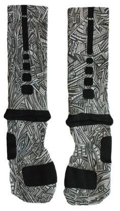 Sock Swagger   Custom Nike Elite Socks, Apparel, Nike Air Jordans, and Accessories - Custom Nike Elite Crew Basketball Socks - Aztec Edition
