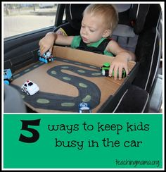 Teaching Mama: 5 Ways to Keep Kids Busy in the Car. Pinned by SOS Inc. Resources. Follow all our boards at pinterest.com/sostherapy for therapy resources.