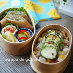 Fresh Rolls, Bento, Lunch Ideas, Cooking, Ethnic Recipes, Soups, Lunch Box, Japanese, Cakes
