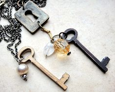 Keys and Keyhole Necklaces | Becky Shander