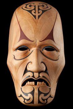 Koroua • Wise Old Man by Todd Couper, Māori artist (KC120602)