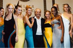Kirsty Hume, Shalom Harlow, Gianni Versace, Kate Moss, Naomi Campbel, Amber Valletta