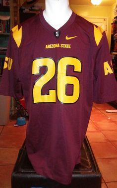 Nike arizona state sun devils  26 T Wilson Burgundy large jersey  b7896b19d