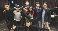 Carlos and the cast of Grease Live Grease 2016, Grease Musical, Grease Live, Aaron Tveit, Movie Tv, Behind The Scenes, Musicals, Jordans, It Cast