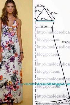 Patron de robe fleurie longue pour l'été