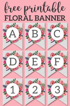 Floral Alphabet Banner Letters Free Printable Paper Trail Design Floral Alphabet Banner Letters Free Printable Paper Trail Design Bringing Back the Peace bringingbackthepeace Printables Love Floral Alphabet Banner nbsp hellip diy banner Free Baby Shower Printables, Free Printable Banner, Printable Letters, Free Printables, Printable Paper, Printable Flower, Printable Templates, Printable Labels, Party Printables