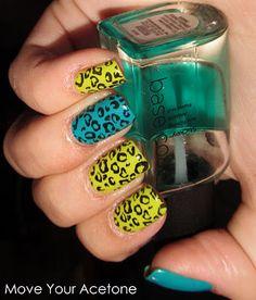 Nicki Minaj colour leopard nails