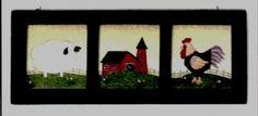 Primitive Country Kitchen Saltbox Sign Sheep Barn Rooster Folk Art Vintage Retro | eBay