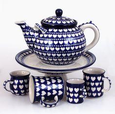 Heart pattern . ELIMAshop.cz . Handmade Polish Pottery from Boleslawiec . Bunzlau . Bunzlauer keramik . ceramics . stoneware . shipping worldwide . Artystyczna .