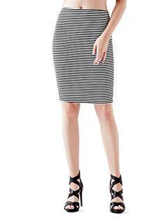 GUESS Women's High-Rise Striped Pencil Skirt