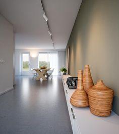 Una cocina blanca moderna