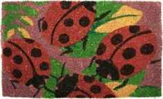 Lady Bugs Welcome Mat - bambeco all-natural welcome mats are densely woven from the sustainable coir fiber of coconut shells Rugs And Mats, Coir, Coconut Shell, Love Bugs, Welcome Mats, Green Fashion, Furniture Sale, Outdoor Rugs, Kids Rugs