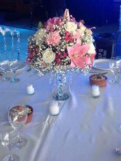Centro De Mesa Casamientos 15 Años Luz Led, 80 Cm De Alto. - $ 155,00 Ballerina Party Decorations, Wedding Reception Decorations, Wedding Table, Floral Centerpieces, Wedding Centerpieces, Flower Arrangements, Rose Gold Theme, Bouquet, Event Decor