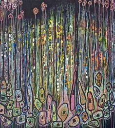 "Saatchi Online Artist: Virginie Gallois; Ink, 2012, Mixed Media ""Sous les grands arbres #1"" #art"