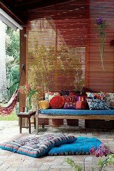 Pretty Bohemiam patio!!