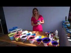 Como Fazer um Lindo Vaso de Cimento - Passo a Passo Fácil (começo meio e fim) - YouTube