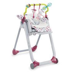 Chicco, Polly Progress Grey, krzesełko - leżaczek, 5w1